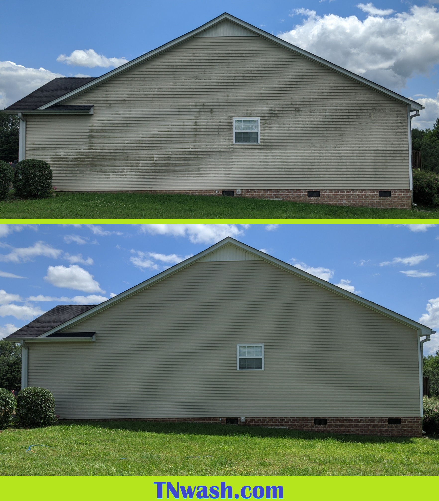 soft washing a house instead of pressure washing